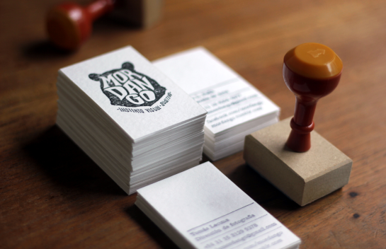 Mordango - letterpress business cards