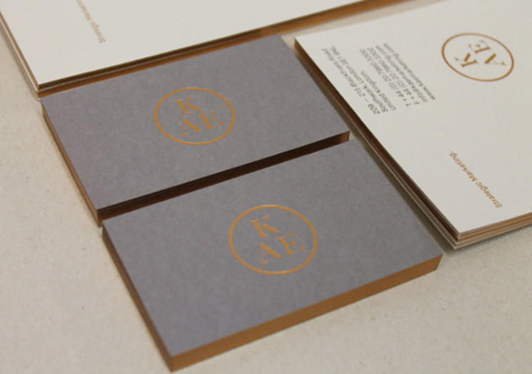 KAE Stationery - edge colored business cards