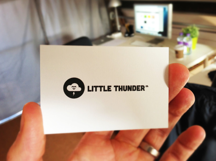 Little Thunder - minimal business cards