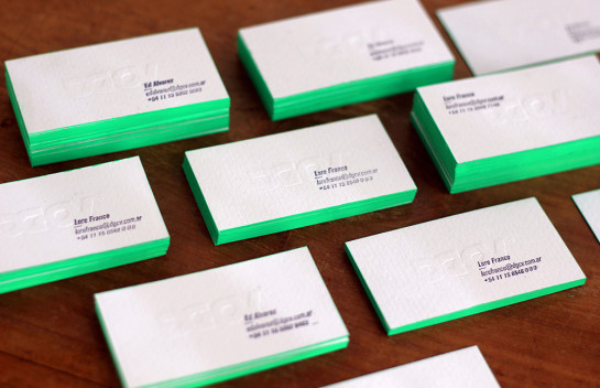 DGCV - edge painted business cards
