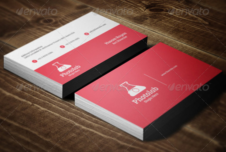 Photolab business cards