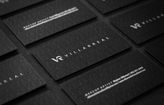 Villarreal - deboss business cards