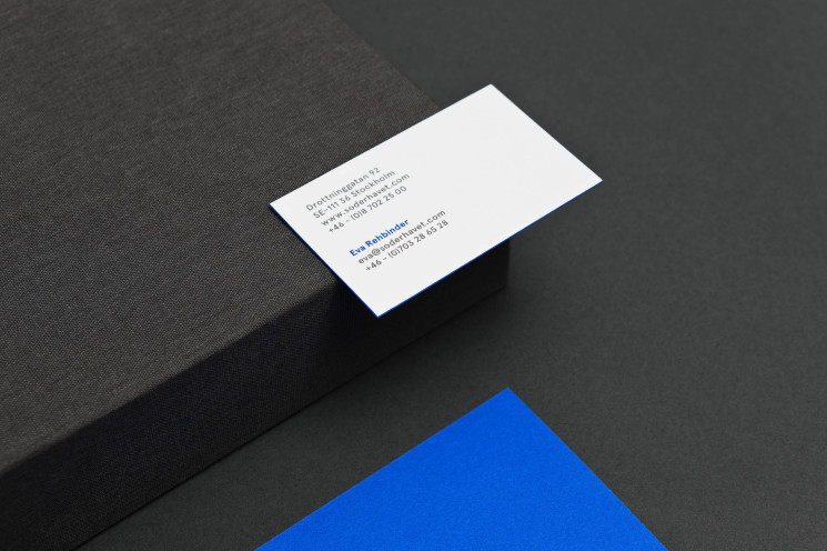 Söderhavet - Edge Painted Business Card