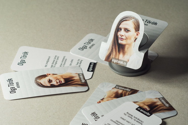 Olga Diana Török - Die Cut Business Card