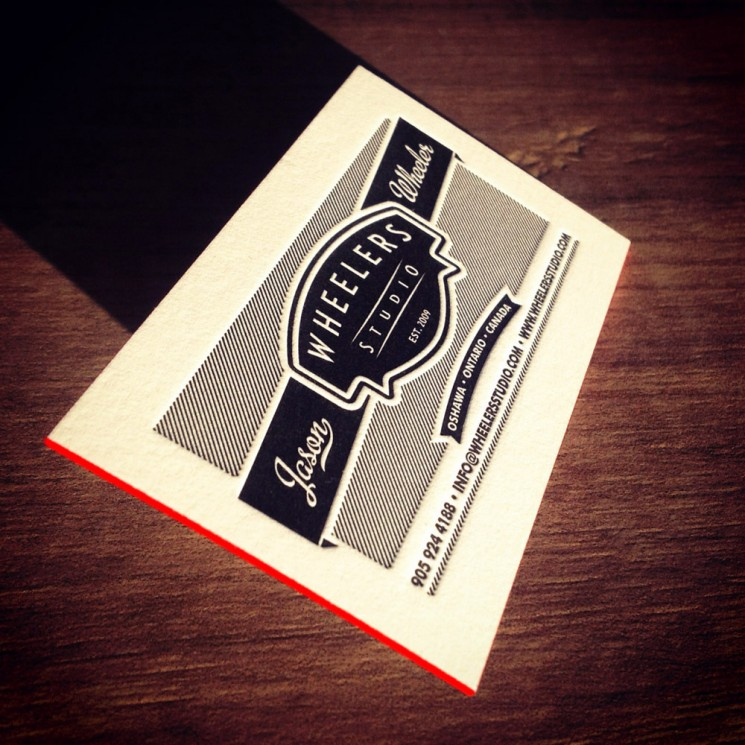 Wheelers Studio - letterpress business card