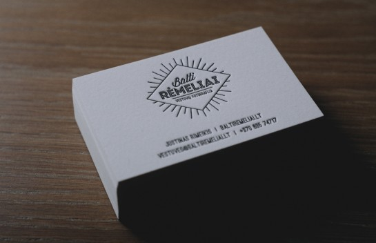 Balti Remeliai - Letterpress Business Cards