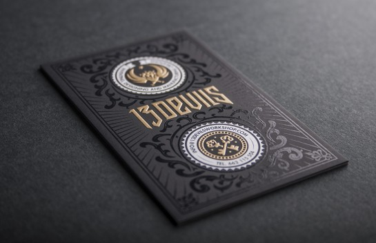 13 Devils - embossed business card