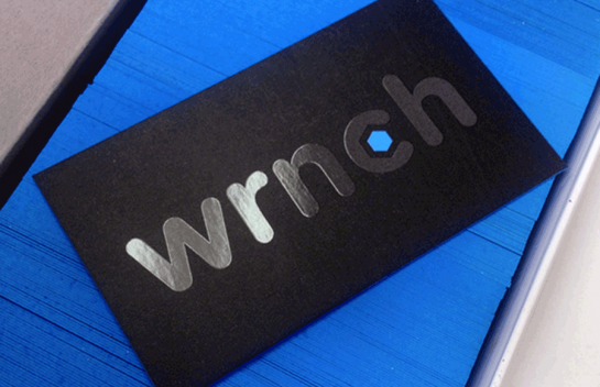 wrnch - edge painted business card
