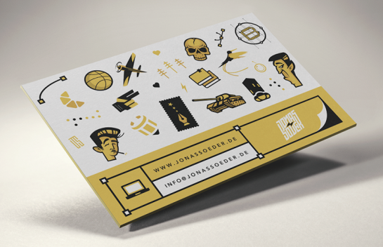 Jonass Oeder - Illustrative Business Cards