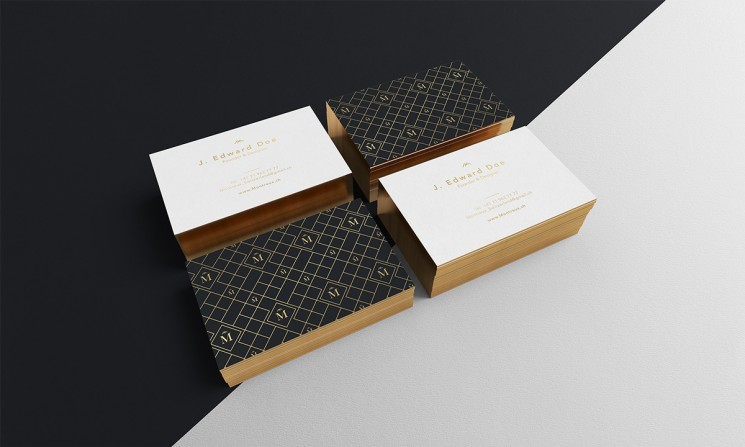 Montreux - edge painted business cards