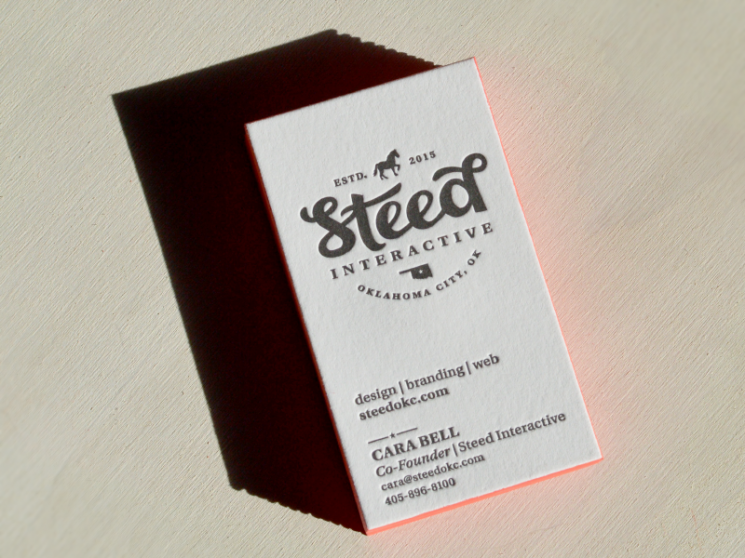 Cara Bell - letterpress business cards