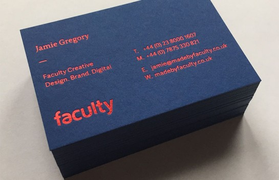 Faculty Creative - letterpress business card
