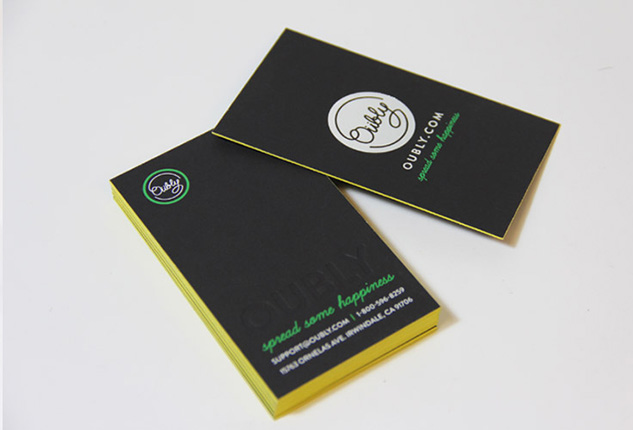 Oubly - Edge Painted Business Cards