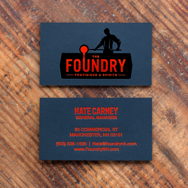 The Foundry - foil stamped business cards