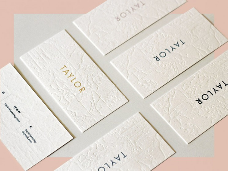 Taylor - letterpress business cards