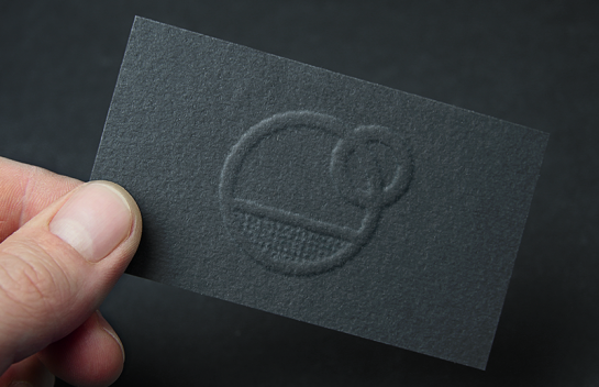 Oil Company Embossed Business Cards