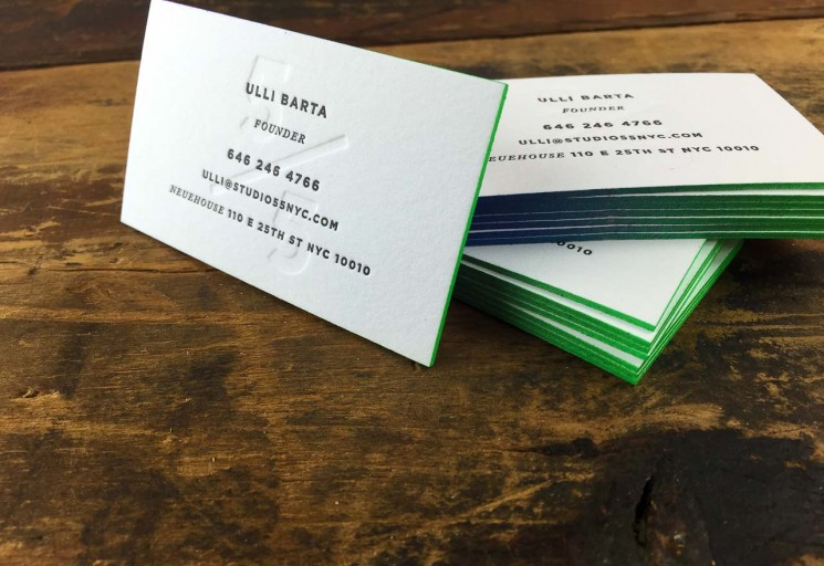 STUDIO 5/5 - thick edge painted business cards