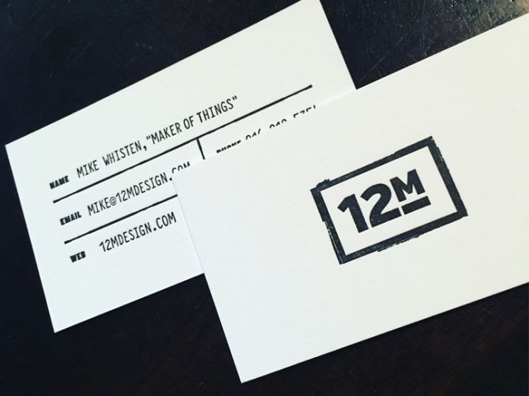 20 Bold Black & White Business Card Designs