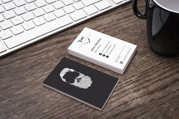 Barber Shop Business Card Template Business Card Design