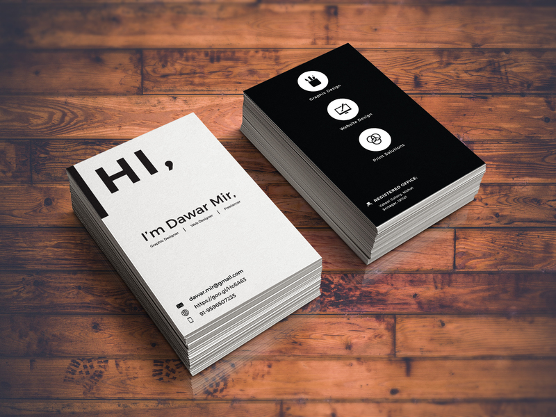 David Mir Personal Business Card | Business Card Design Inspiration