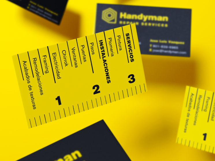 Handyman Business Card | Business Card Design Inspiration