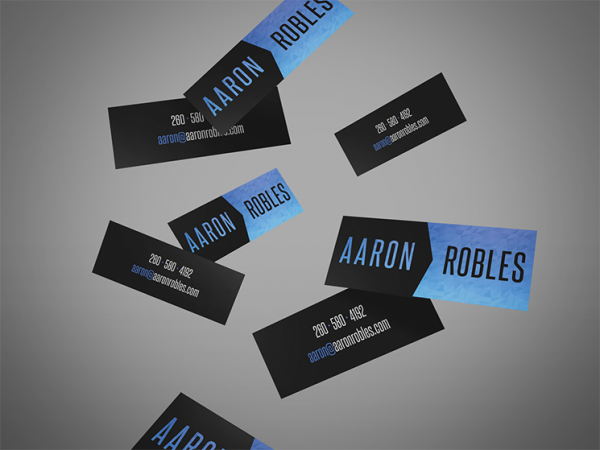 Aaron Robles Creative business card