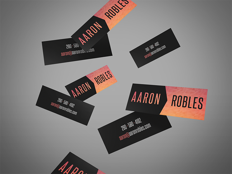 Aaron Robles Business Card design in Sunset
