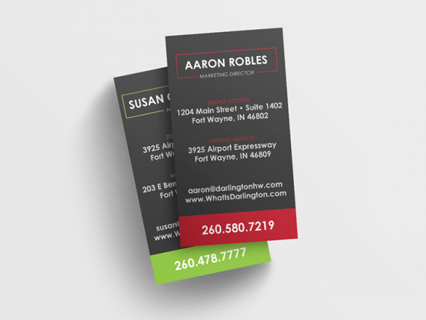 Darlington Holiday Warehouse Business Card