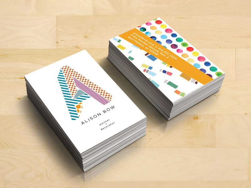 Alison Bow Business Card | Business Card Design Inspiration