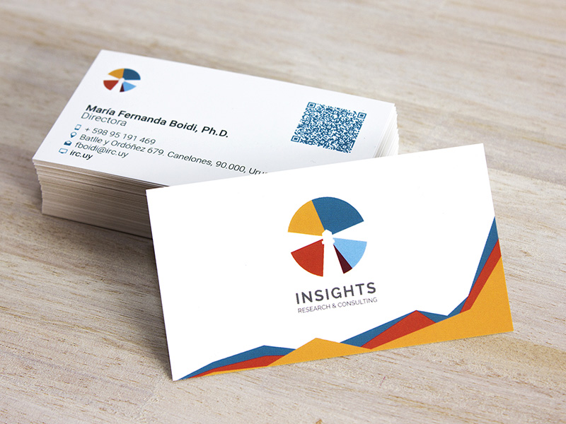 Insights Research & Consulting Business Card | Business Card Design ...