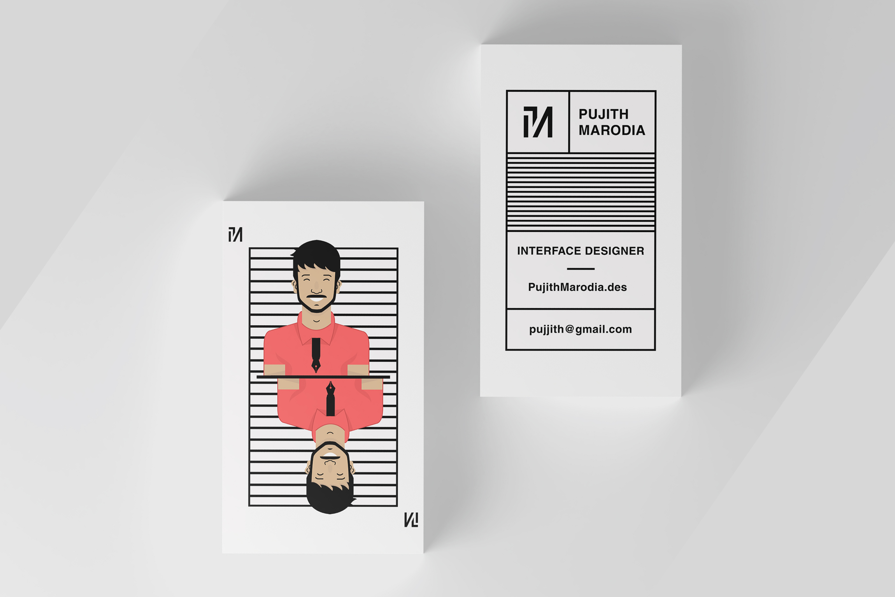 Pujith Marodia Business Card Business Card Design