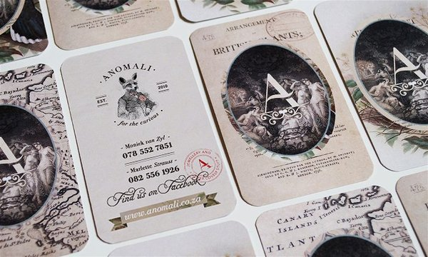 Anomali - vintage business card