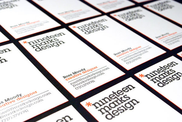 19 Marks Design - letterpress business cards