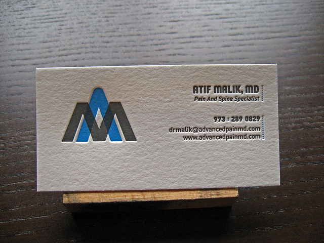 Atif Malik - overprint business cards