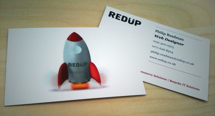 Redup - gloss laminate business card