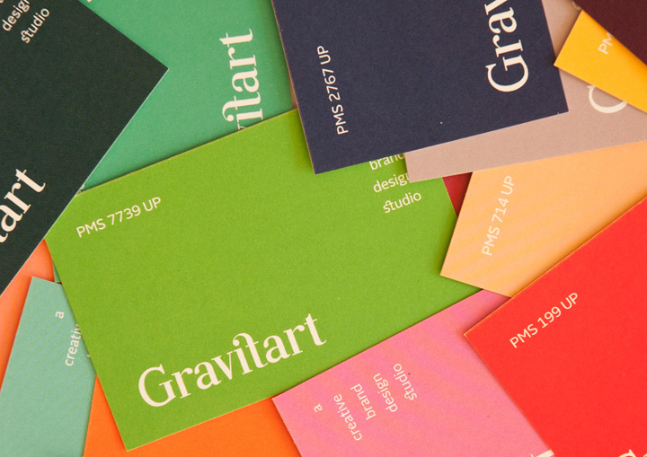Gravitart - thick business cards