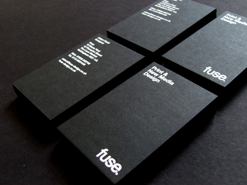 Fuse Design V1 - satin foil business cards