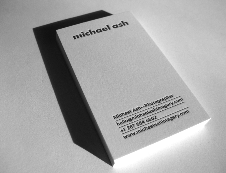 Michael Ash - letterpress business cards