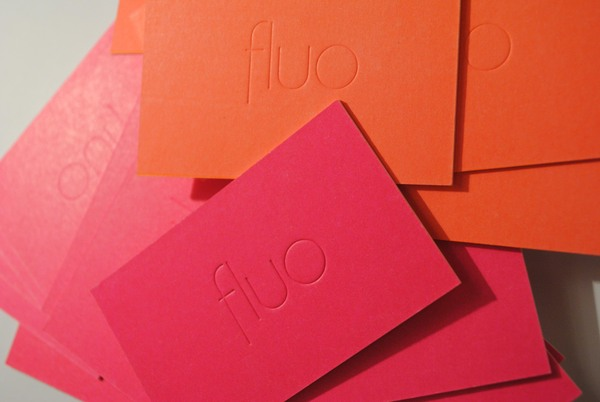Fluo - letterpress business card