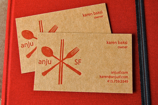 Karen Baksi - letterpress business cards
