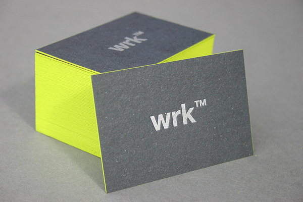 WRK - edge painted business card