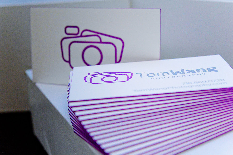 Tom Wang - duplexed business cards