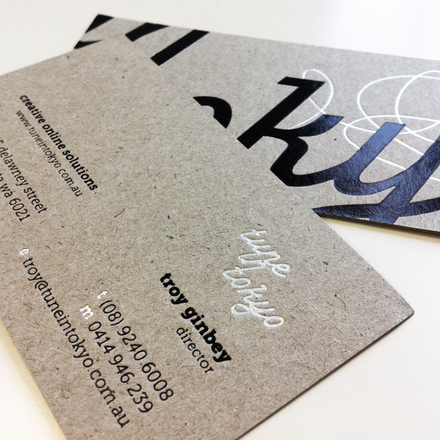 Tune In Tokyo - boxcard business card