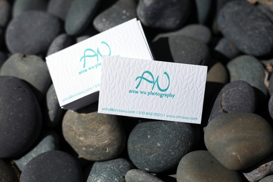 Anna Wu - deboss business card
