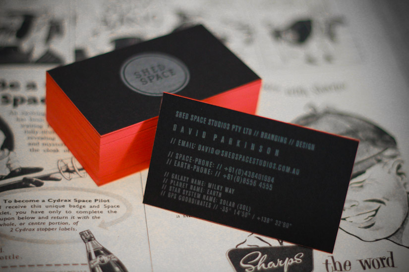 Shed Space - letterpress business card
