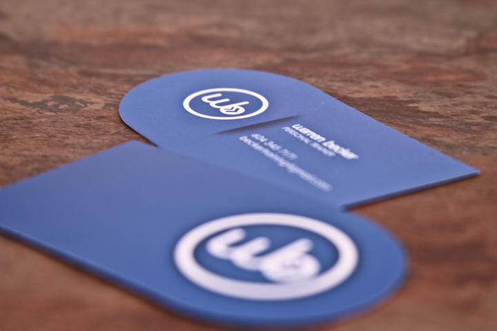 WB - die-cut business cards