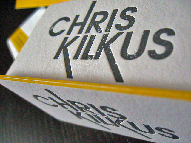Chris Kilkus - edge colored business cards