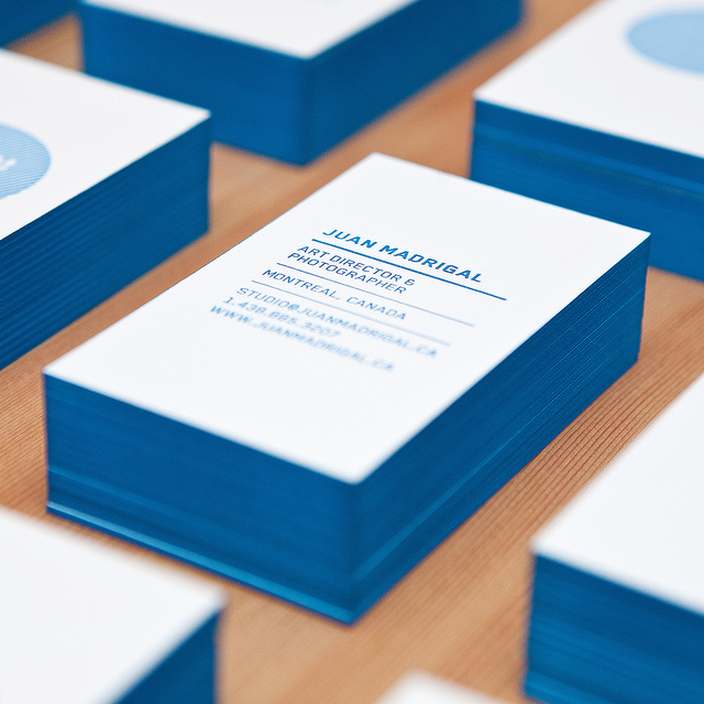 Juan Madrigal - soy ink business cards