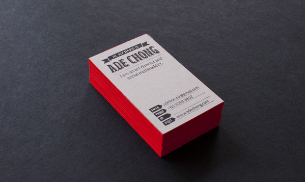 Ade Chong - edge painted business card