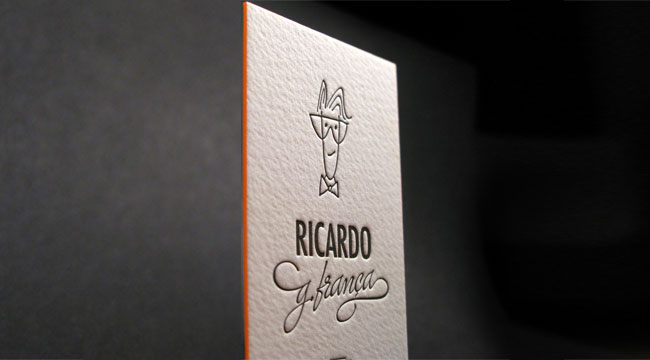 Ricardo G. Franca - edge painted business card